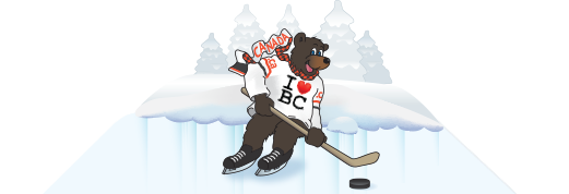 Picture of the I LOVE BC mascot!